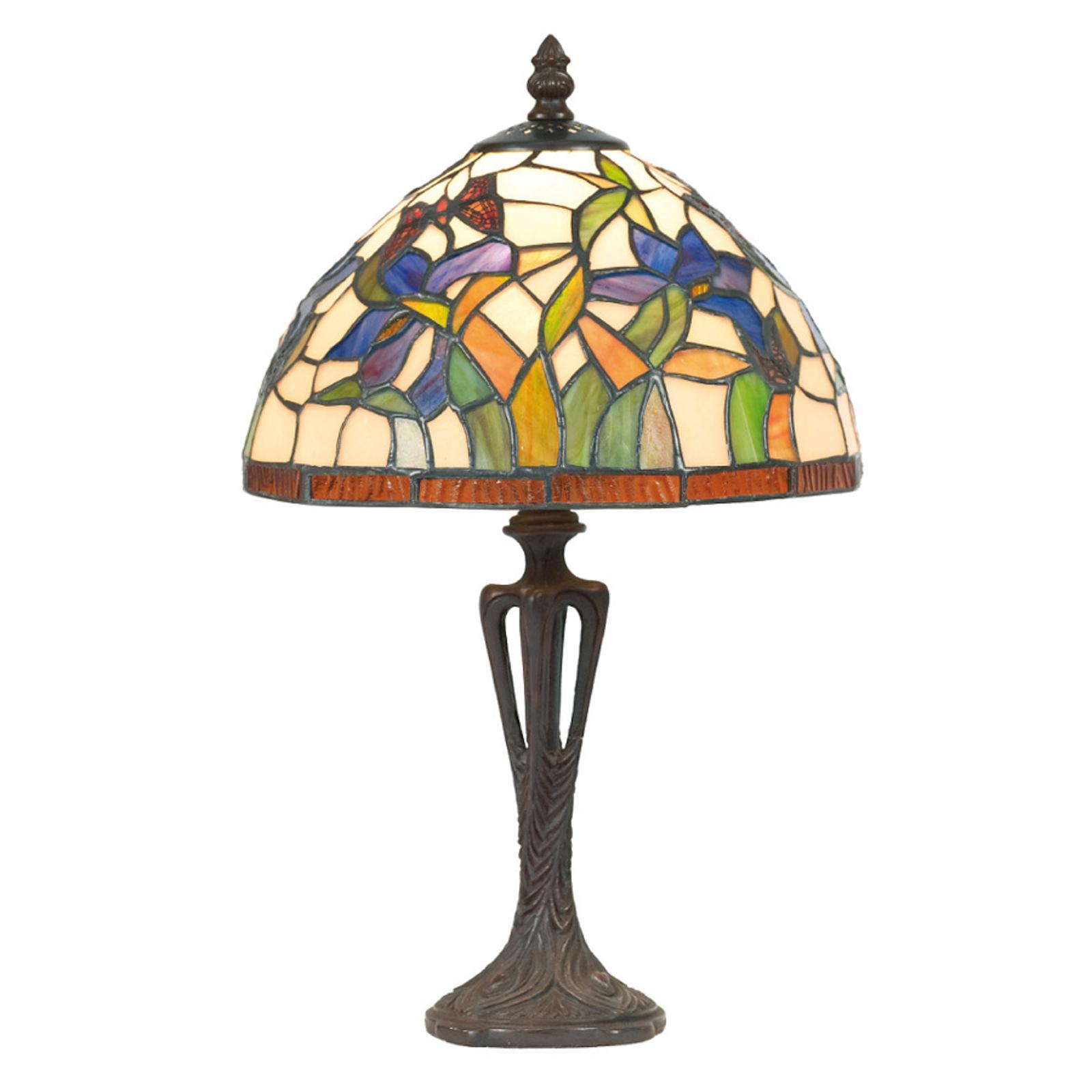 Tischleuchte Elanda im Tiffany-Stil, 40 cm