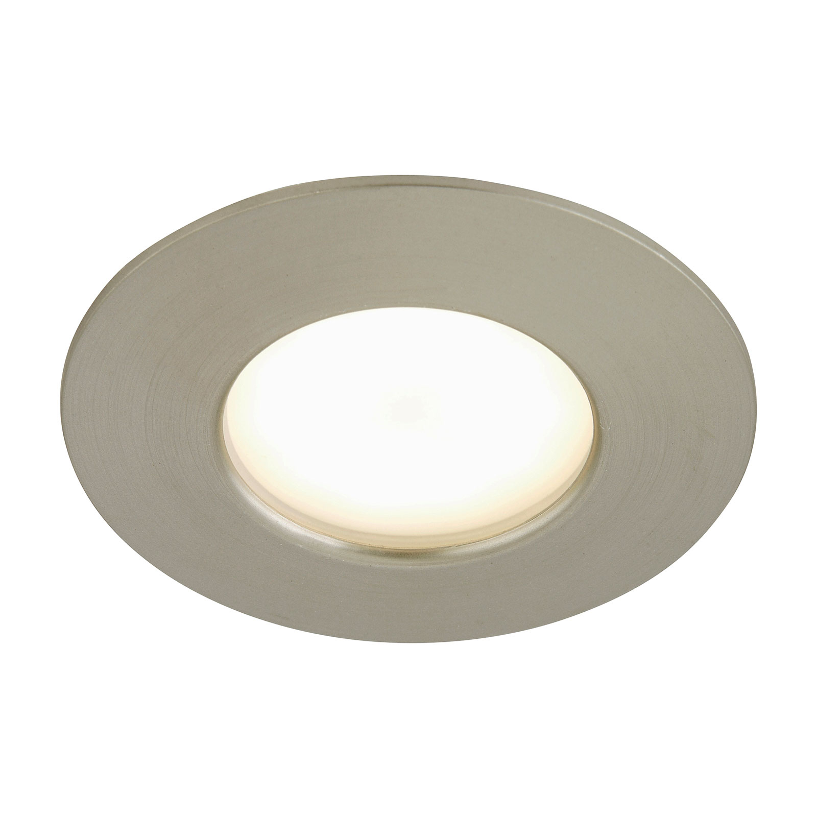 Spot encastré LED Till pour l'ext., nickel mat
