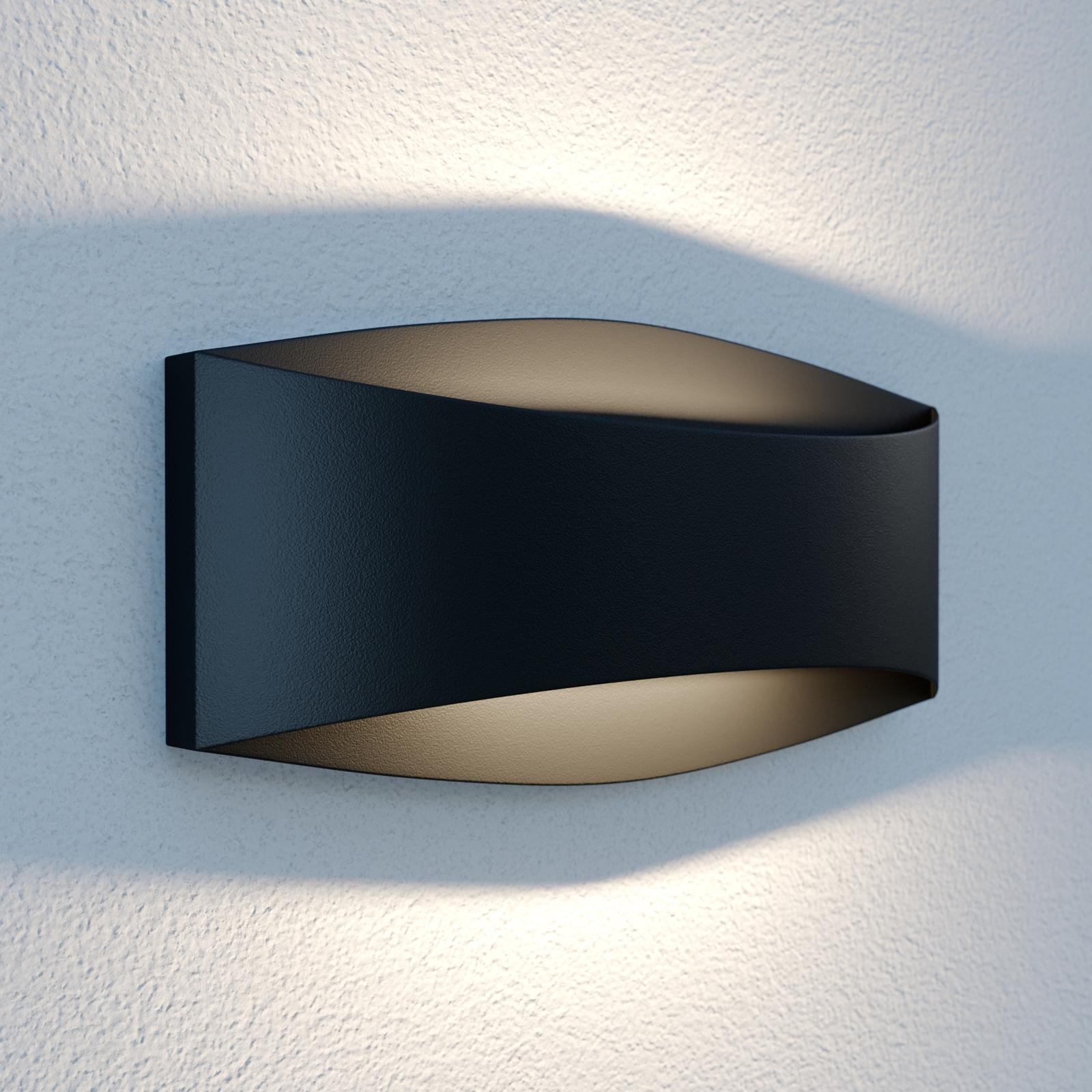 Lindby Evric kinkiet zewnętrzny LED, 25,4 cm