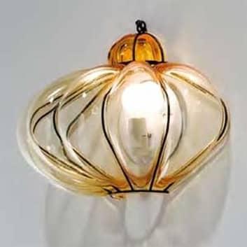 Vägglampa SULTANO av muranoglas