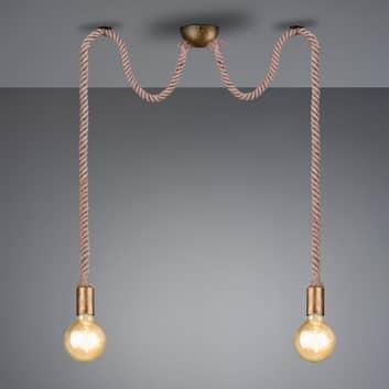 Závěsné světlo Rope s dekorativním lanem 2žár.