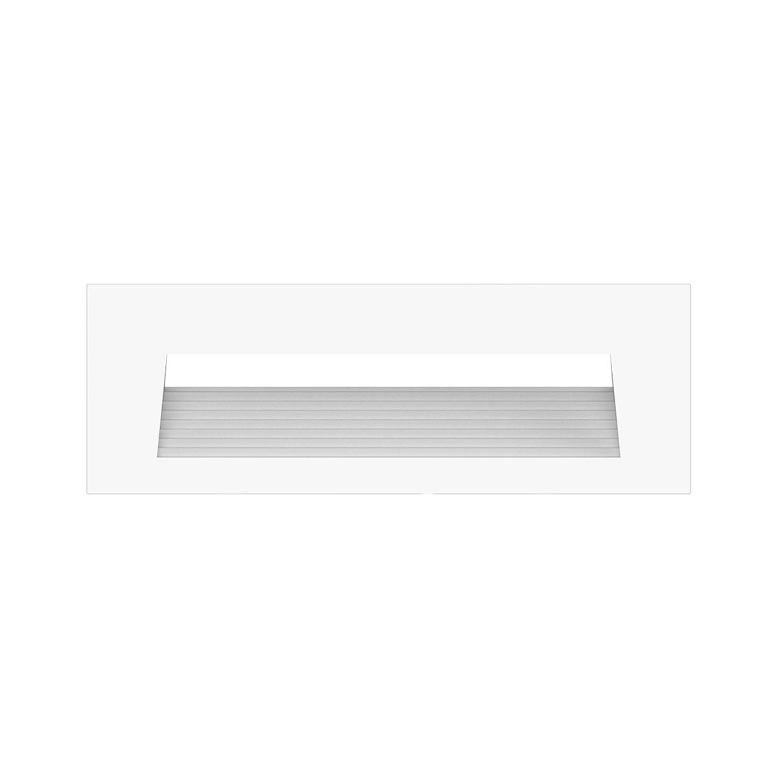 Arcchio Javis LED indbygningslampe, riflet, hvid