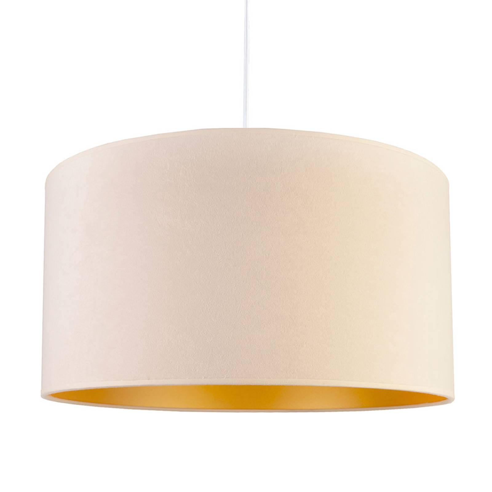 Hanglamp Roller, wit/goud