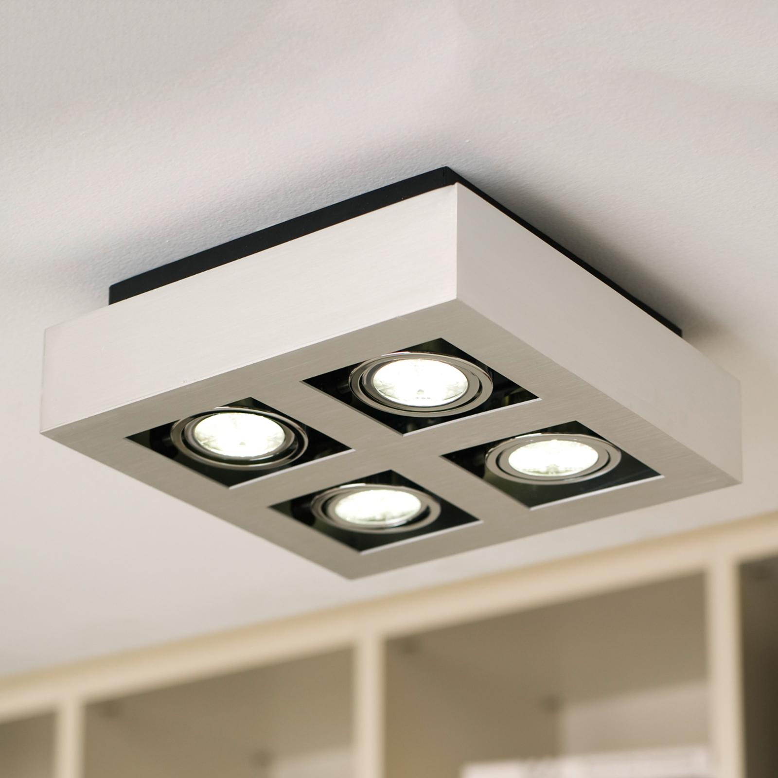 Vierflammige LED-Deckenleuchte Loke