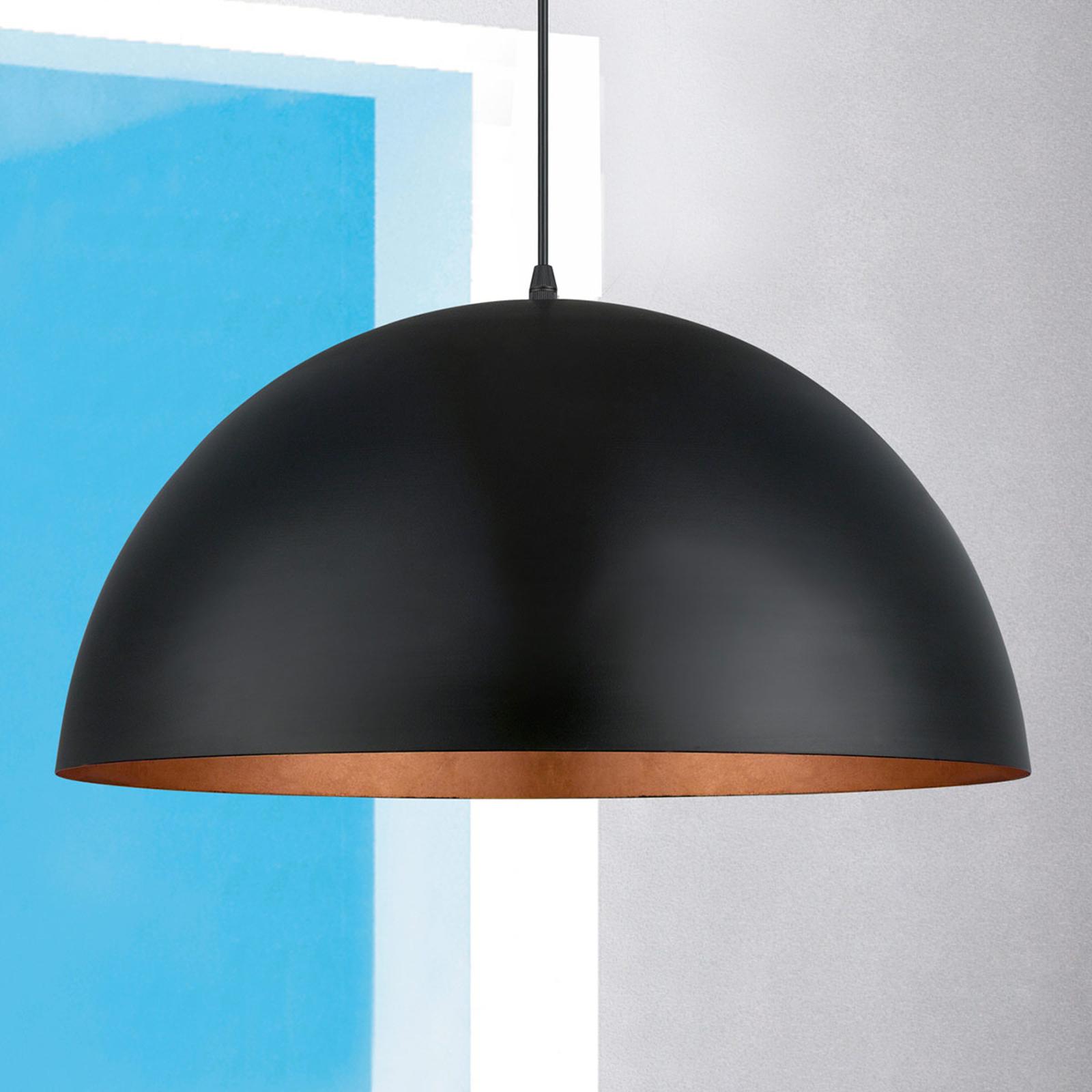 Lampa wisząca Gaetano 1 czarna/miedziana