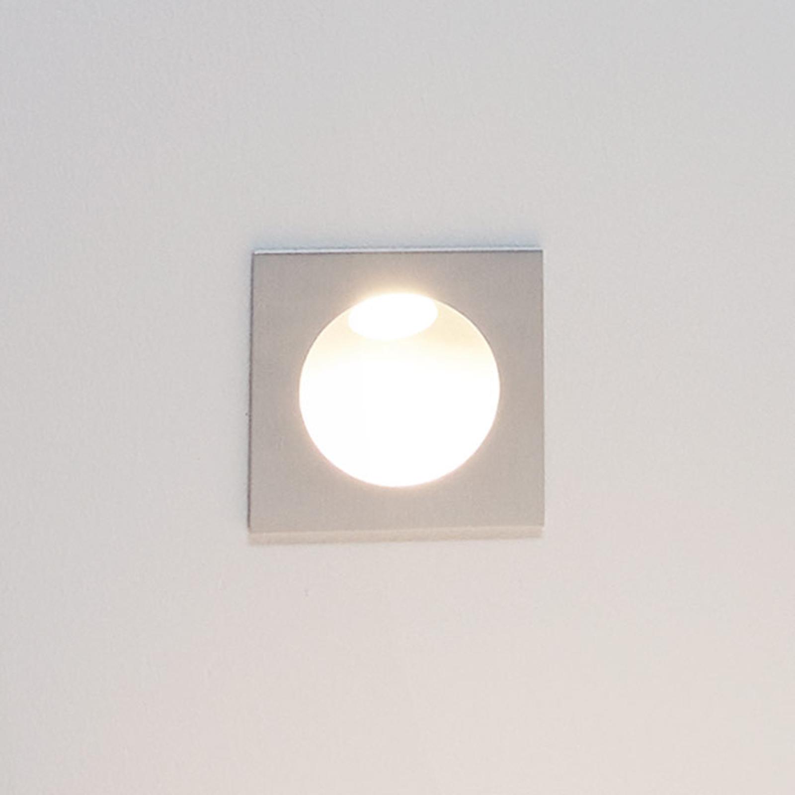 Applique encastrable LED Zarate, argenté