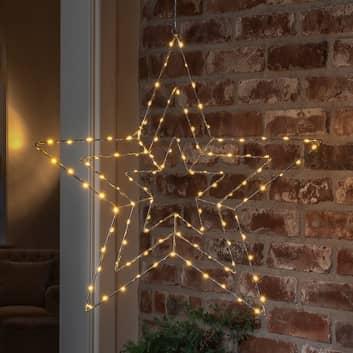 Lampada LED decorativa stella argento 66x64 cm