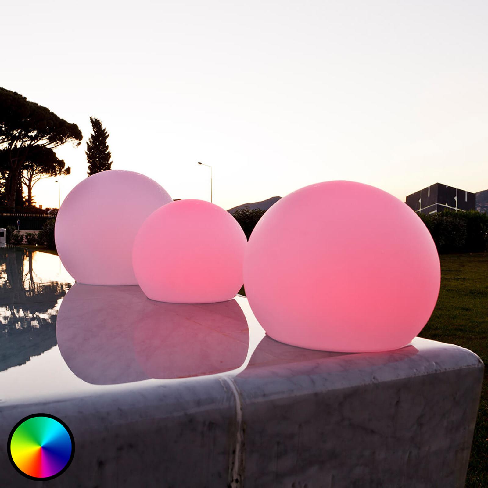 LED-dekorationslampe, Ball der kan flyde