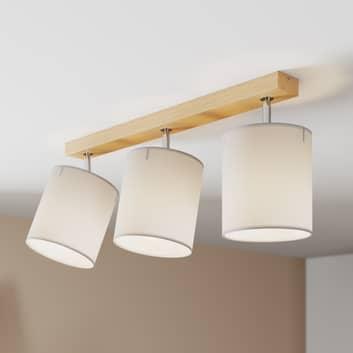 Takspotlight Corralee, grå, 3 lampor