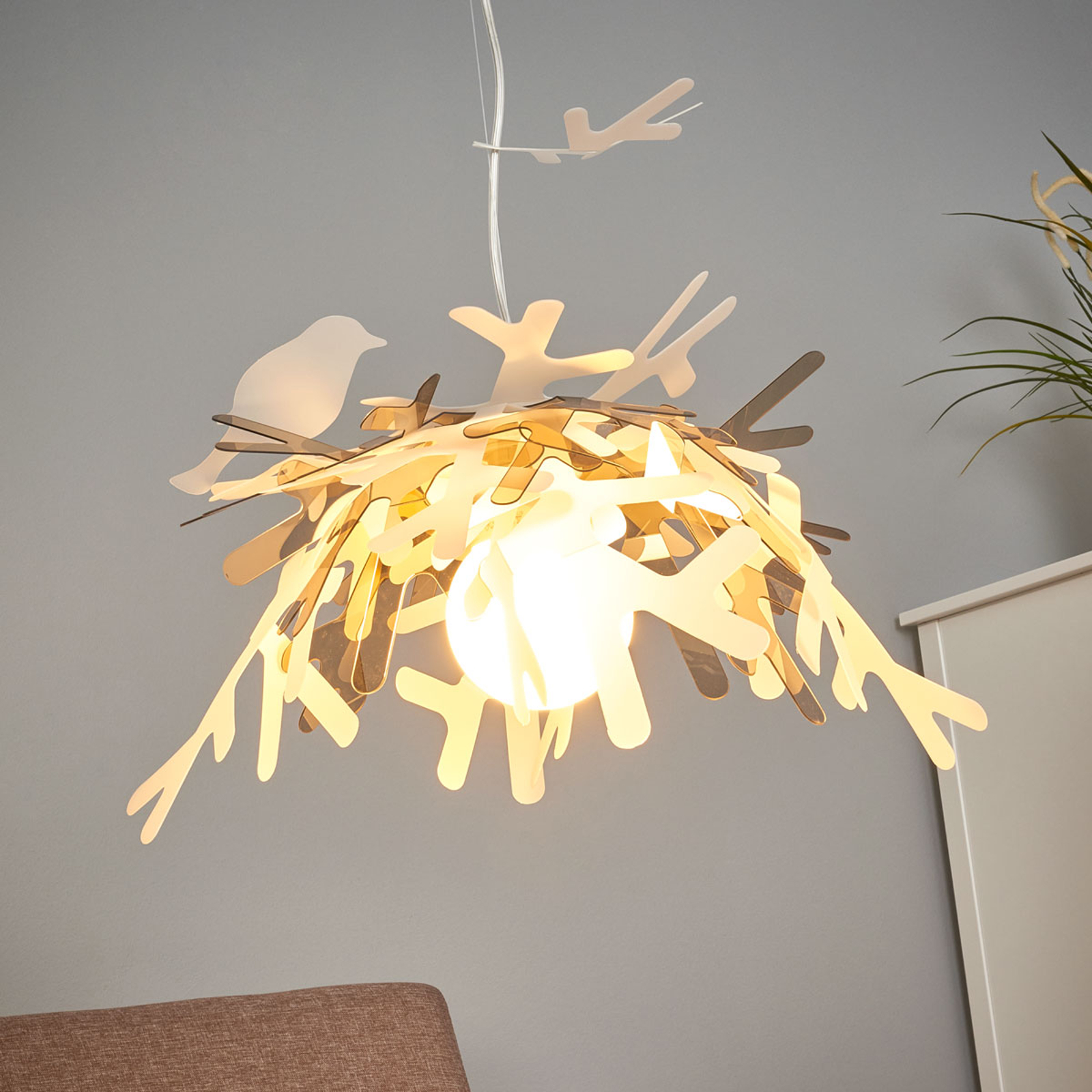 Slamp Luis - design-hanglamp, goud