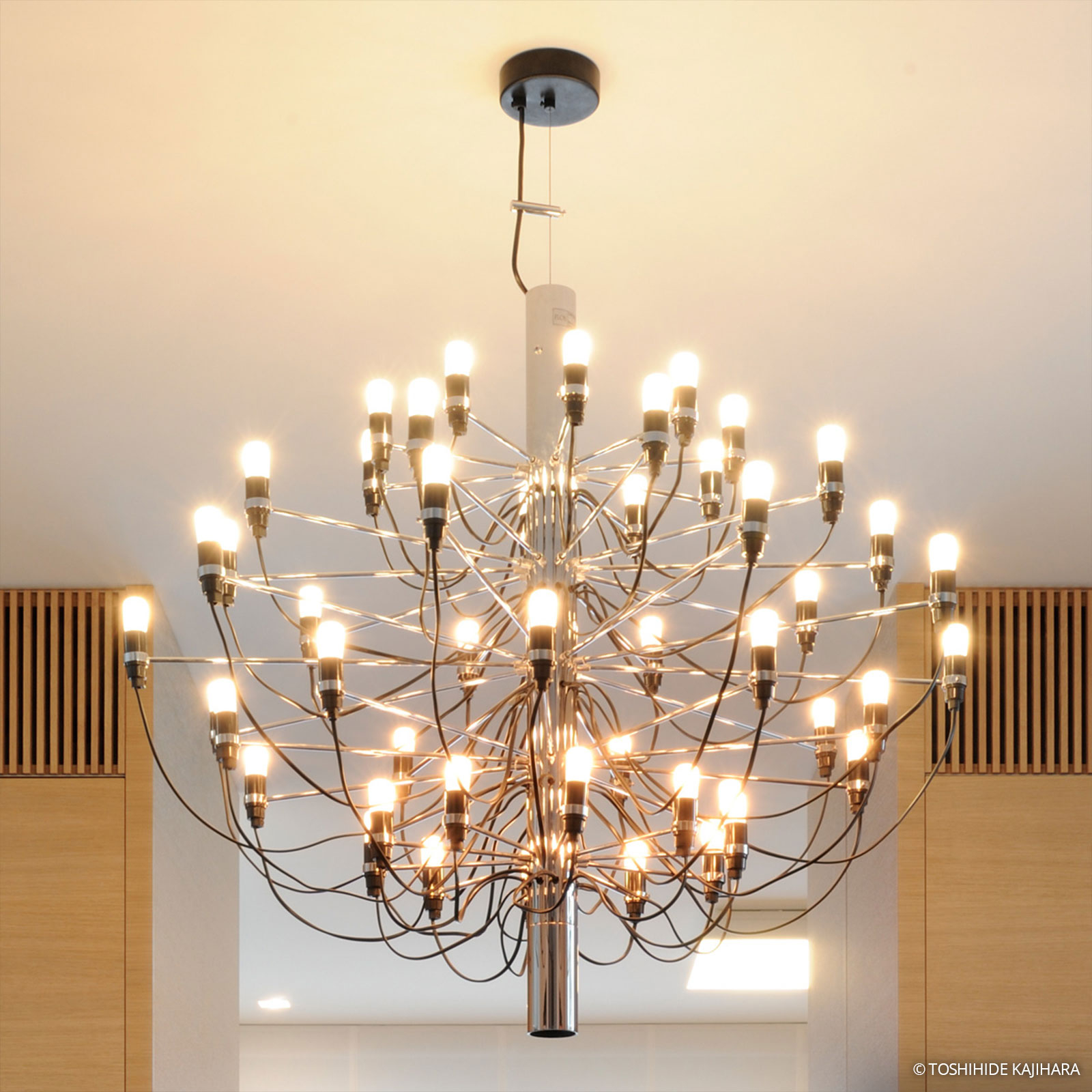 FLOS 2097/30 Kroonluchter 30-lamps chroom, frosted