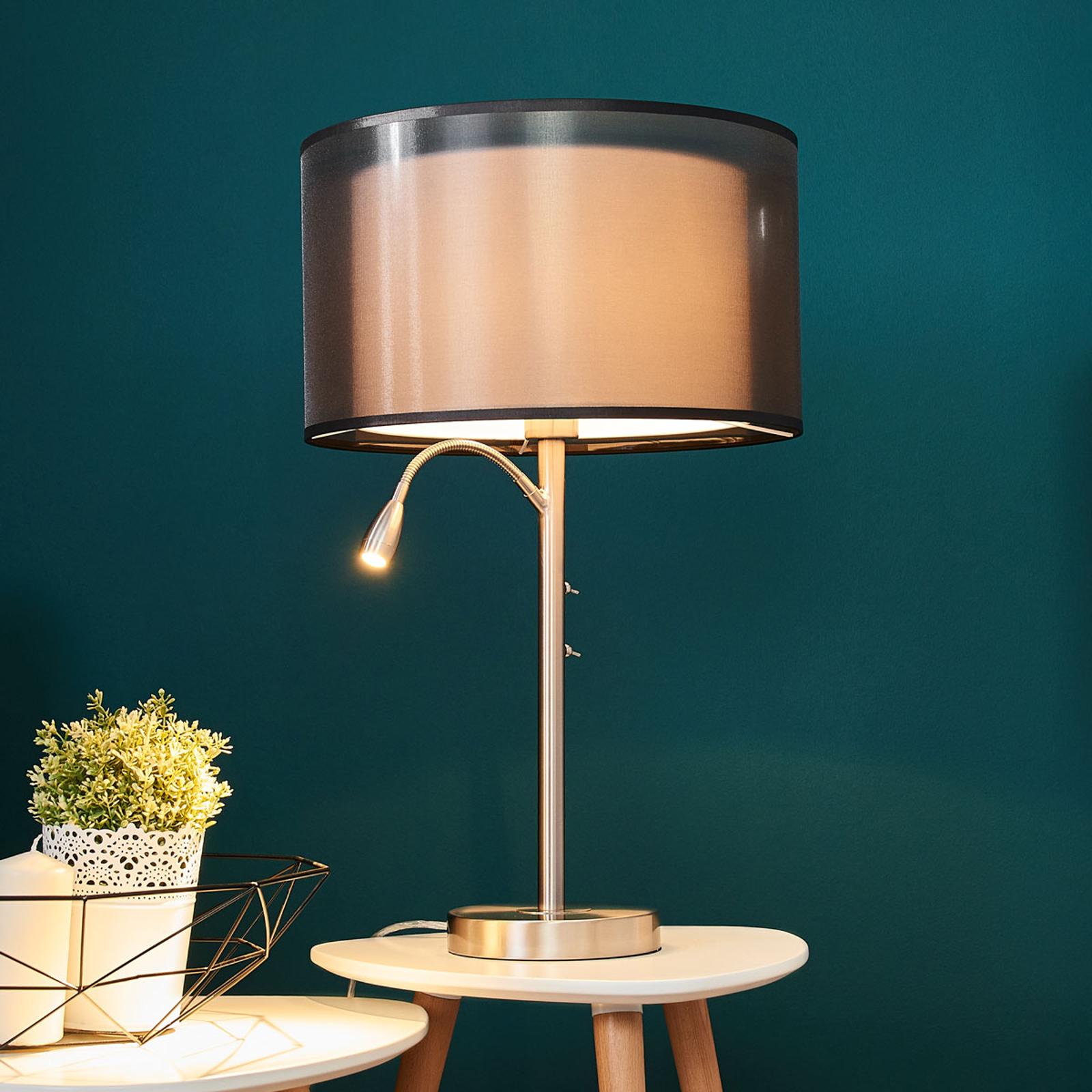 Lampe à poser Damento translucide aspect double