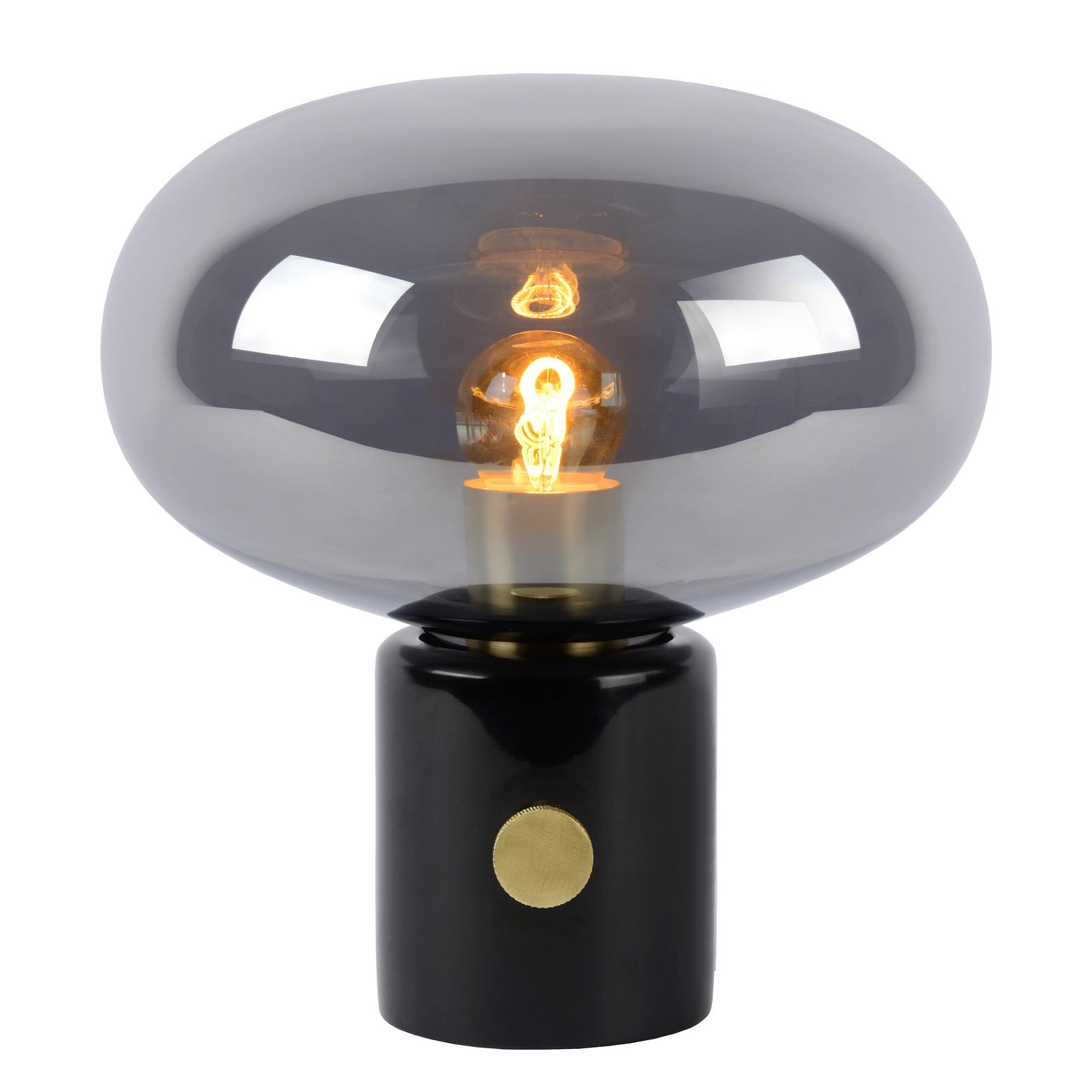 Lampa stołowa Charlize szary dym