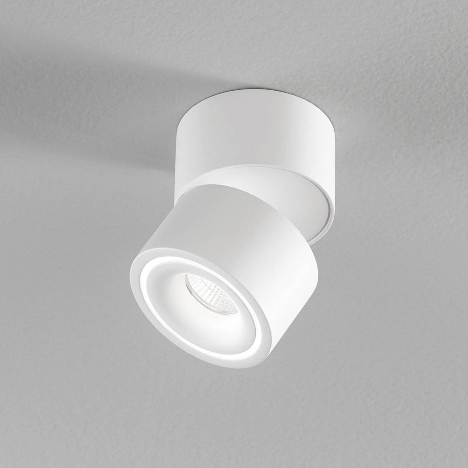 Egger Clippo S spot LED soffitto, bianco