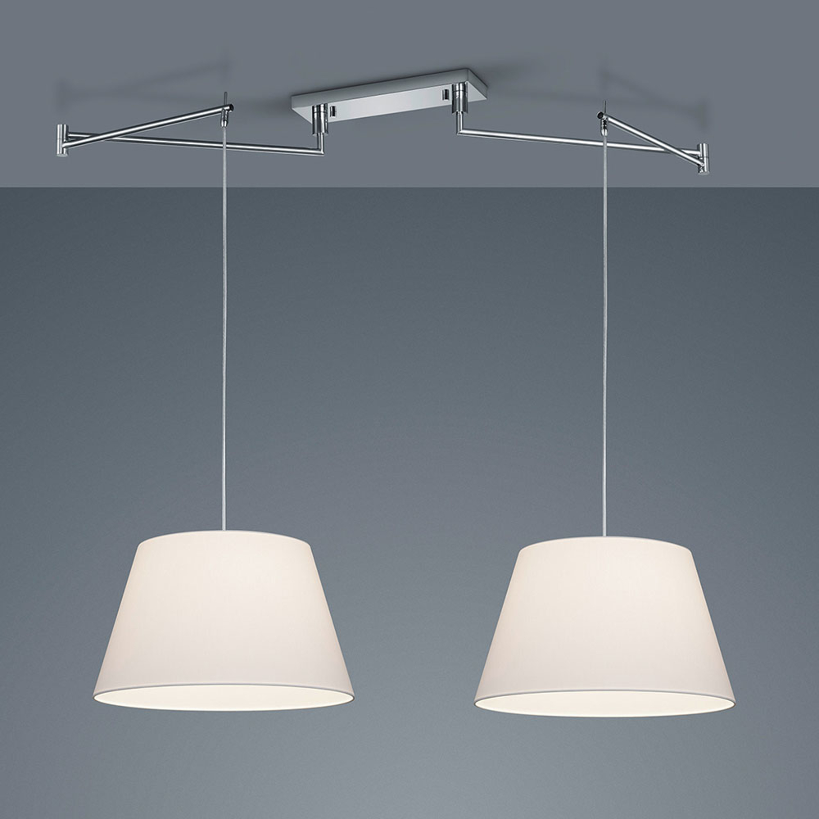 Helestra Certo suspension conique 2 lampes blanche