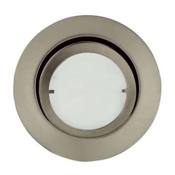 Lámpara empotrada Joanie con LED, hierro cepillado