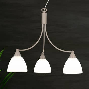 Hængelampe 1795/3 satineret hvid, havanabeige