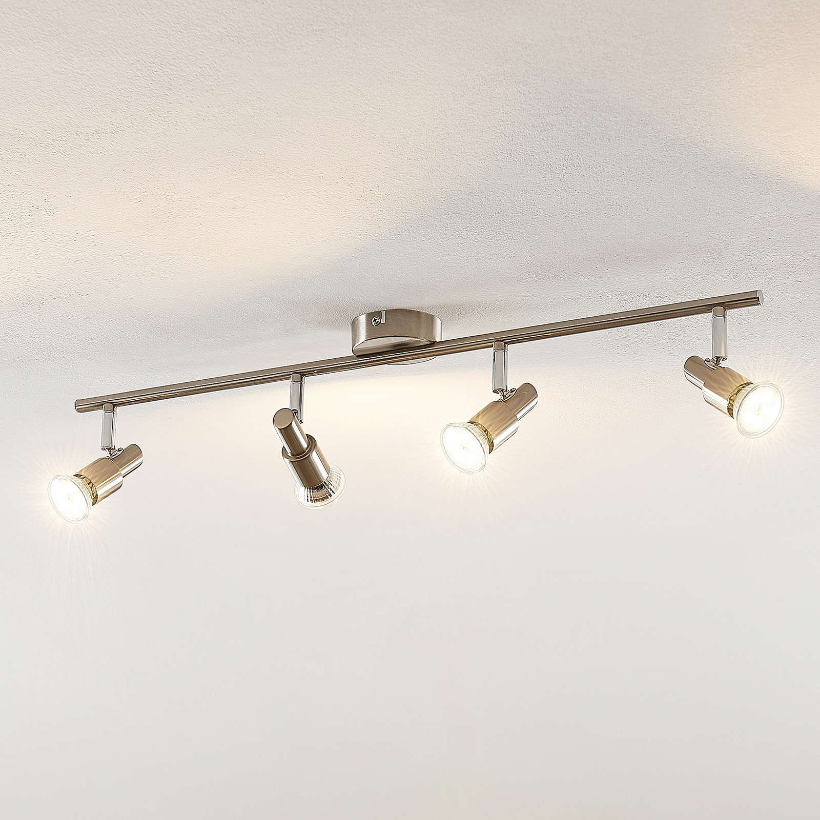 ELC Farida LED-Deckenlampe, nickel, 4-flammig