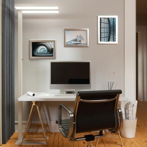Logan - lampadaire de bureau LED blanc, 4000K