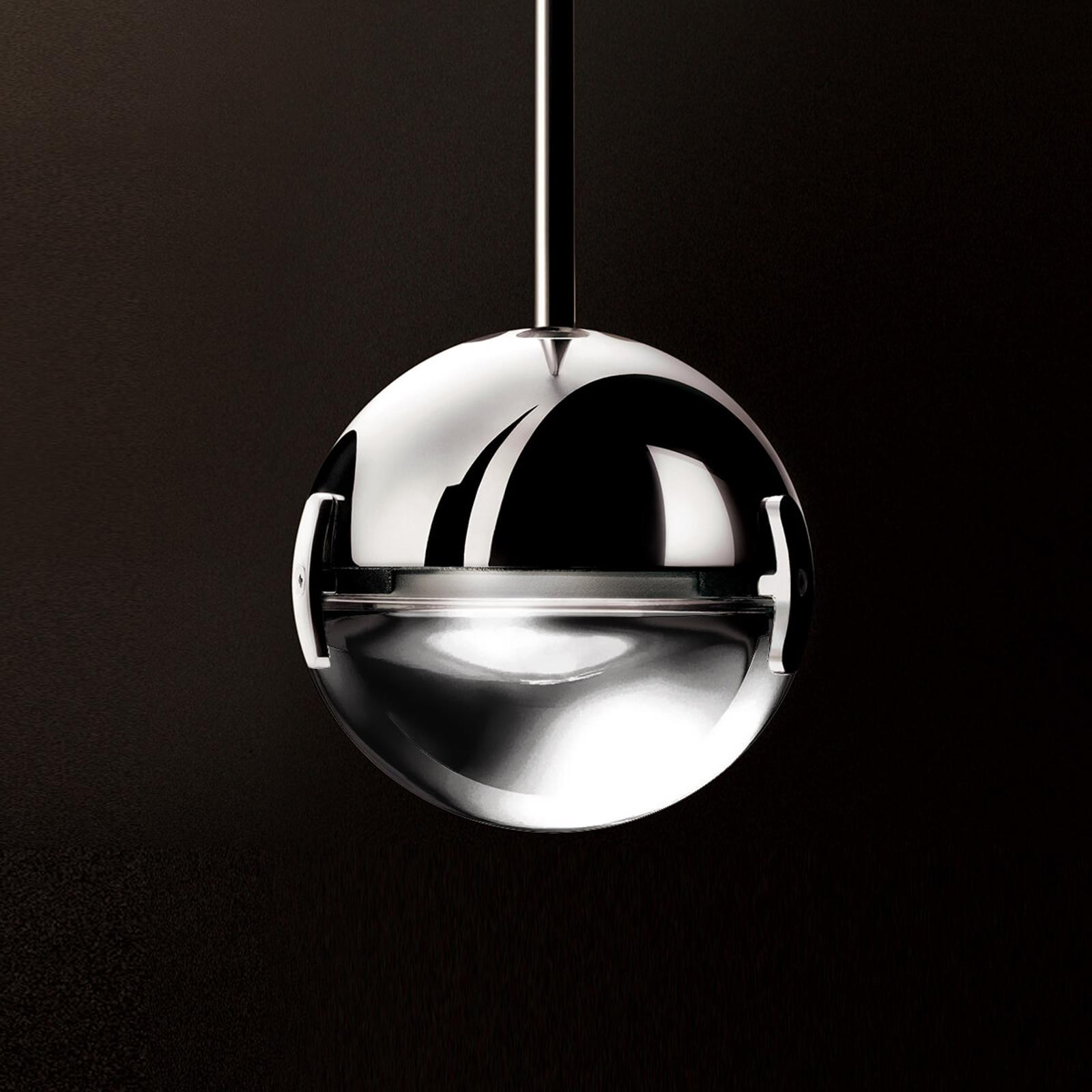 Convivio – lampa wisząca LED, przezroczysta