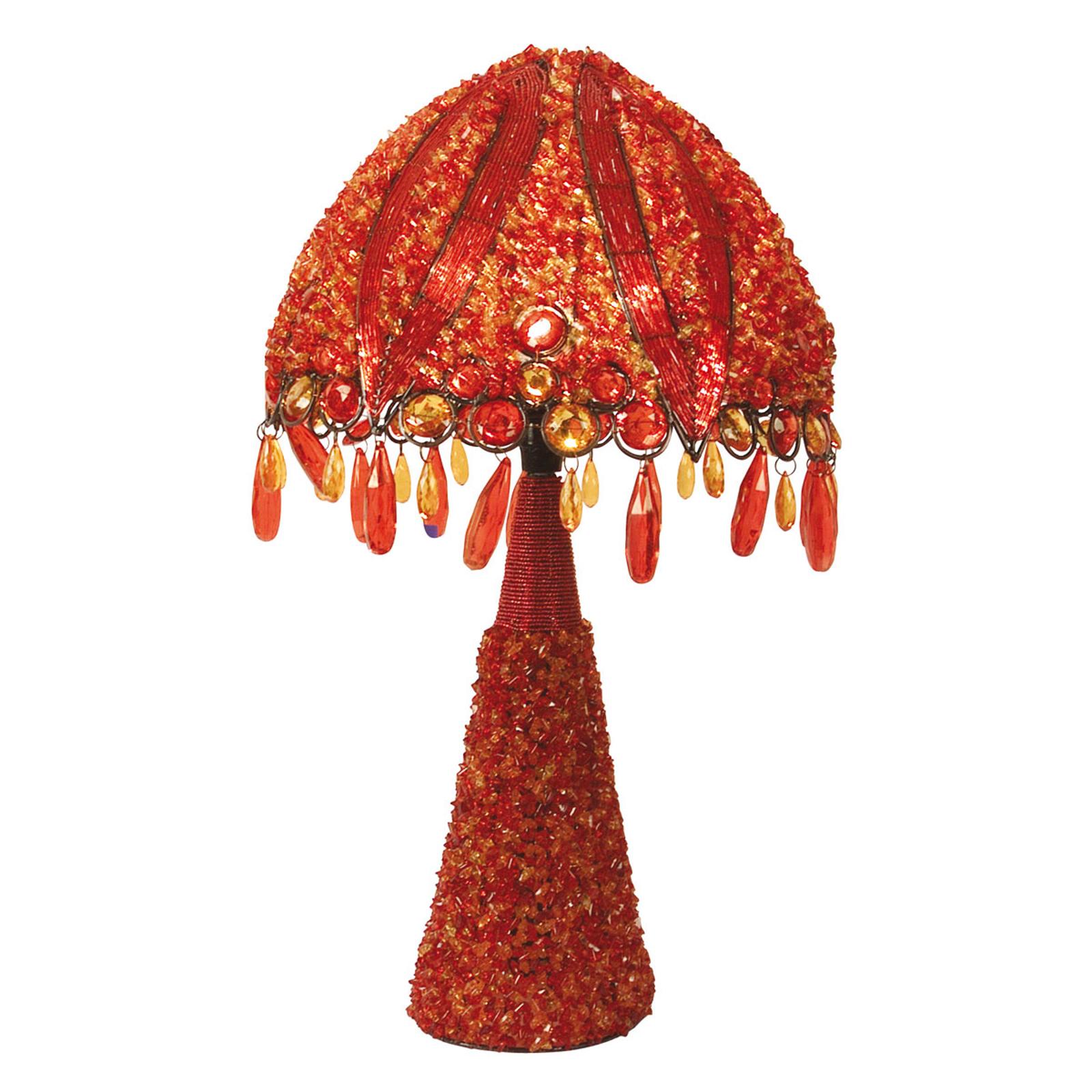 Tafellamp Perla 53 cm oranje