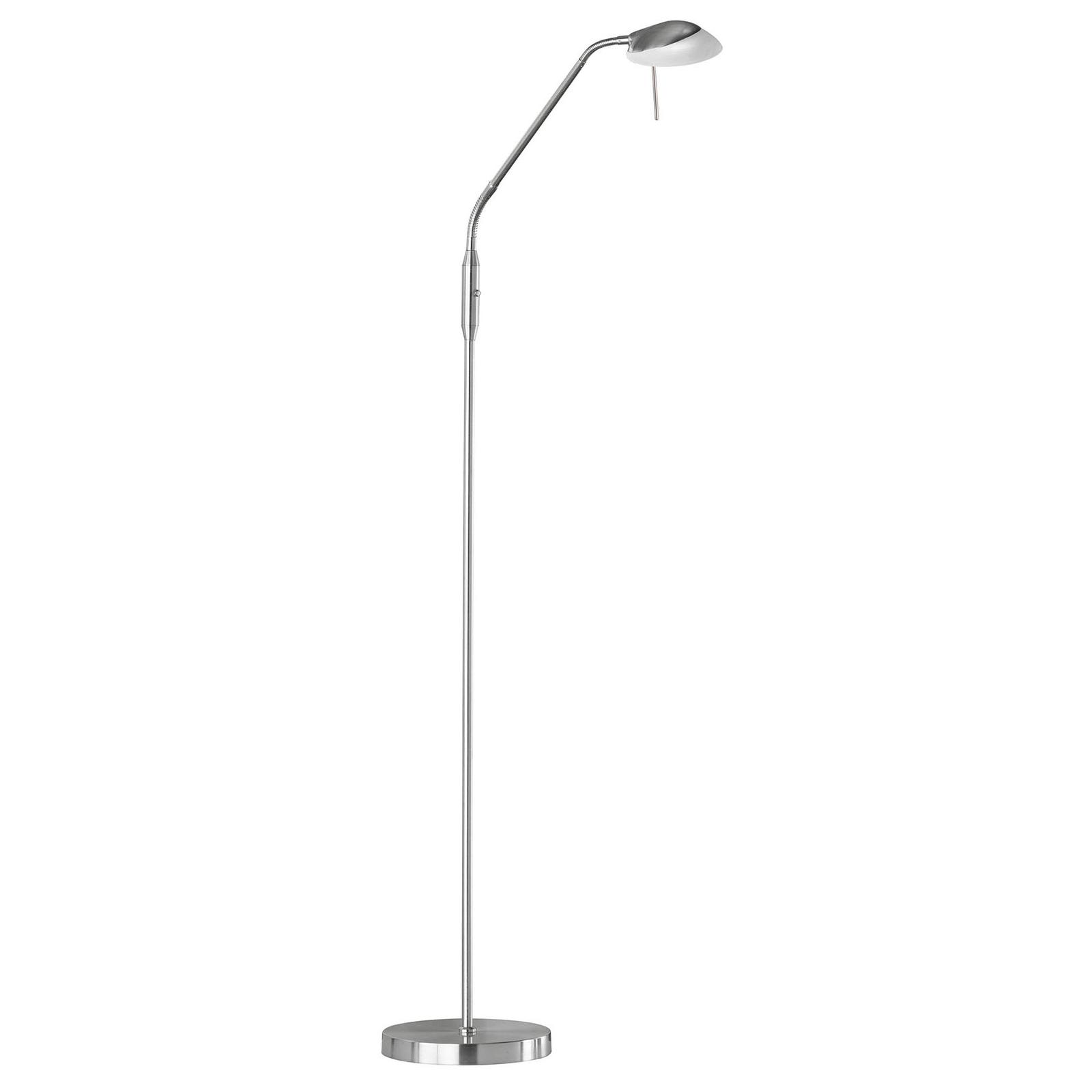 Pool TW LED-gulvlampe, 1 lyskilde, nikkel