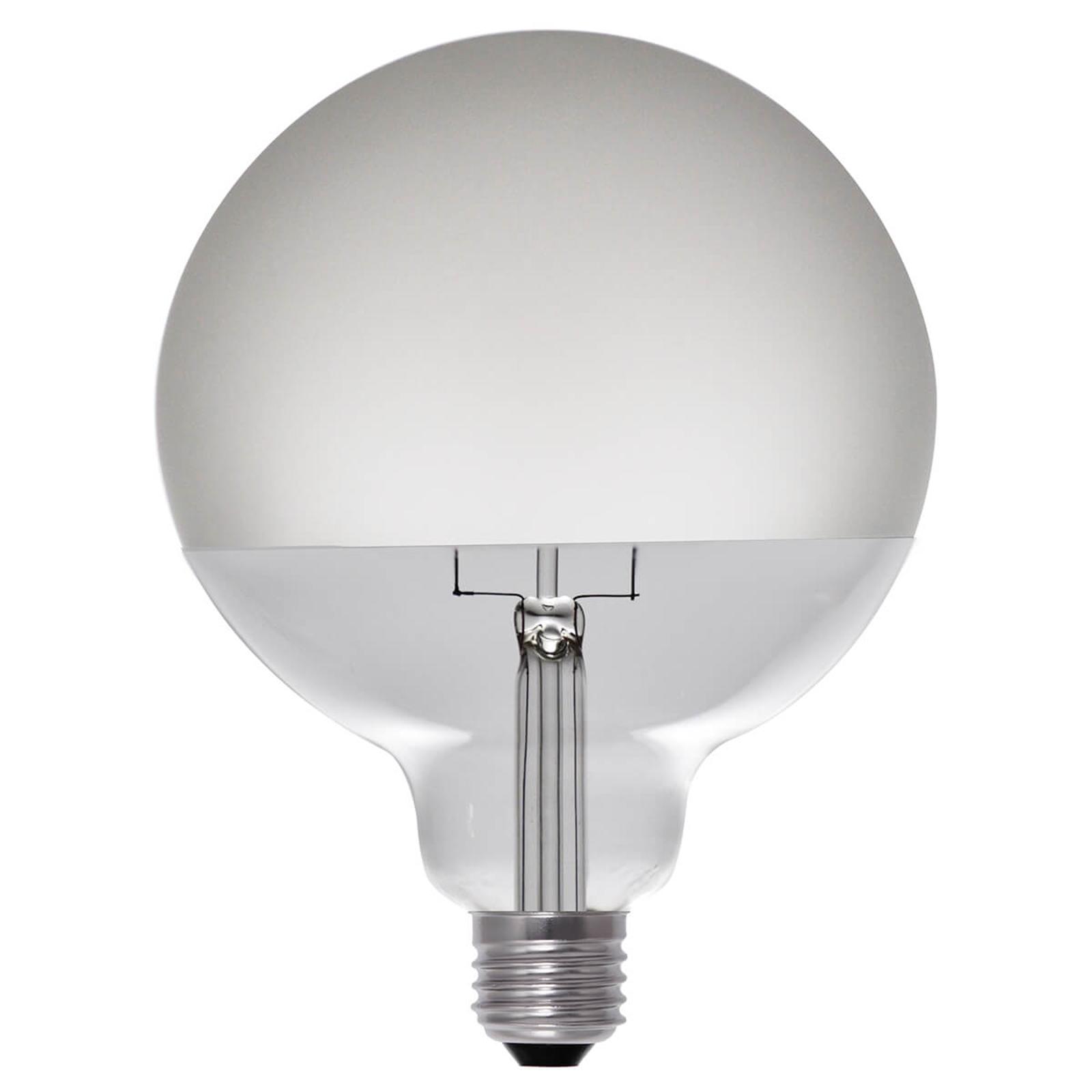 LED-Globelampe halbmatt E27 8W, warmweiß