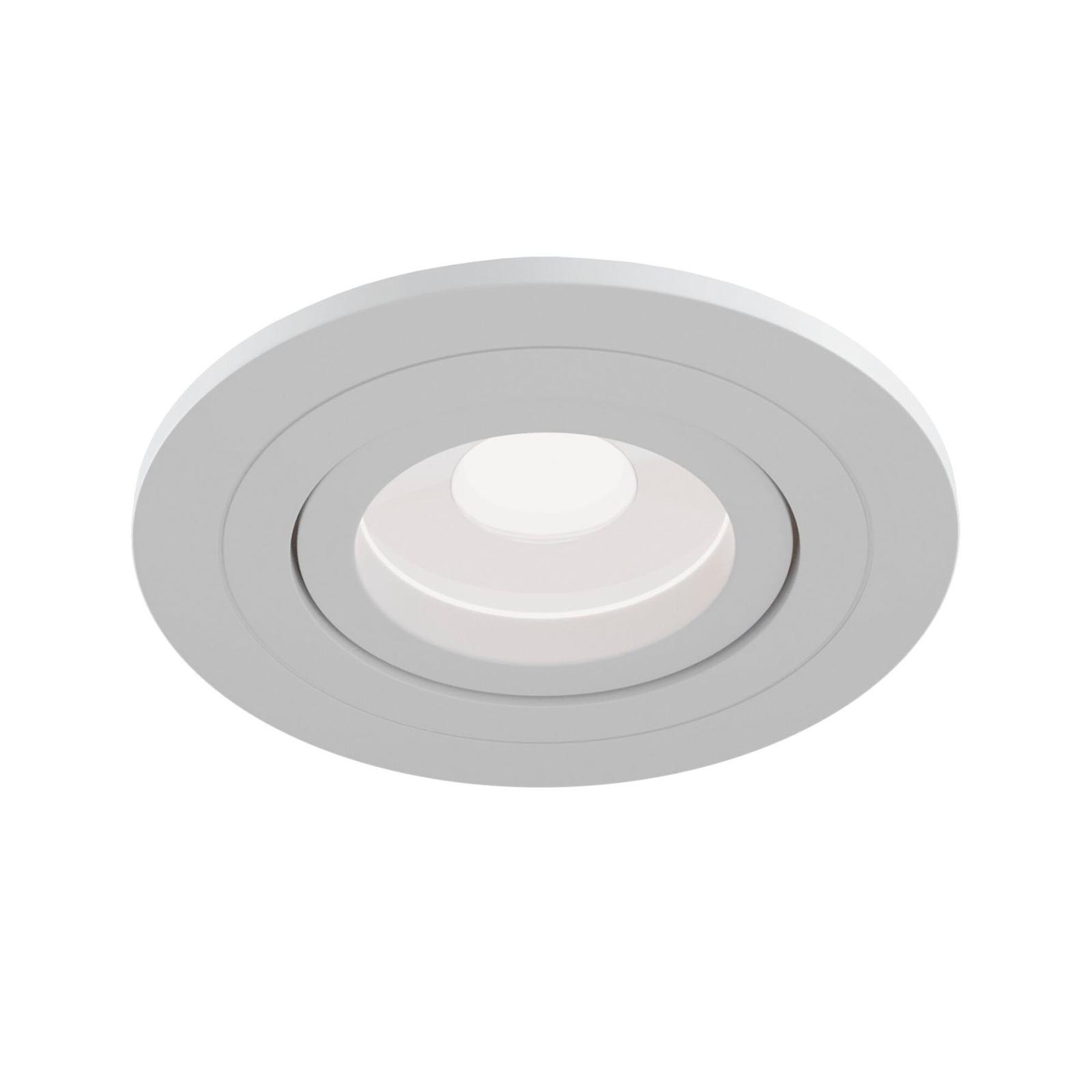 Einbaustrahler Atom, GU10, weiß, runder Rahmen