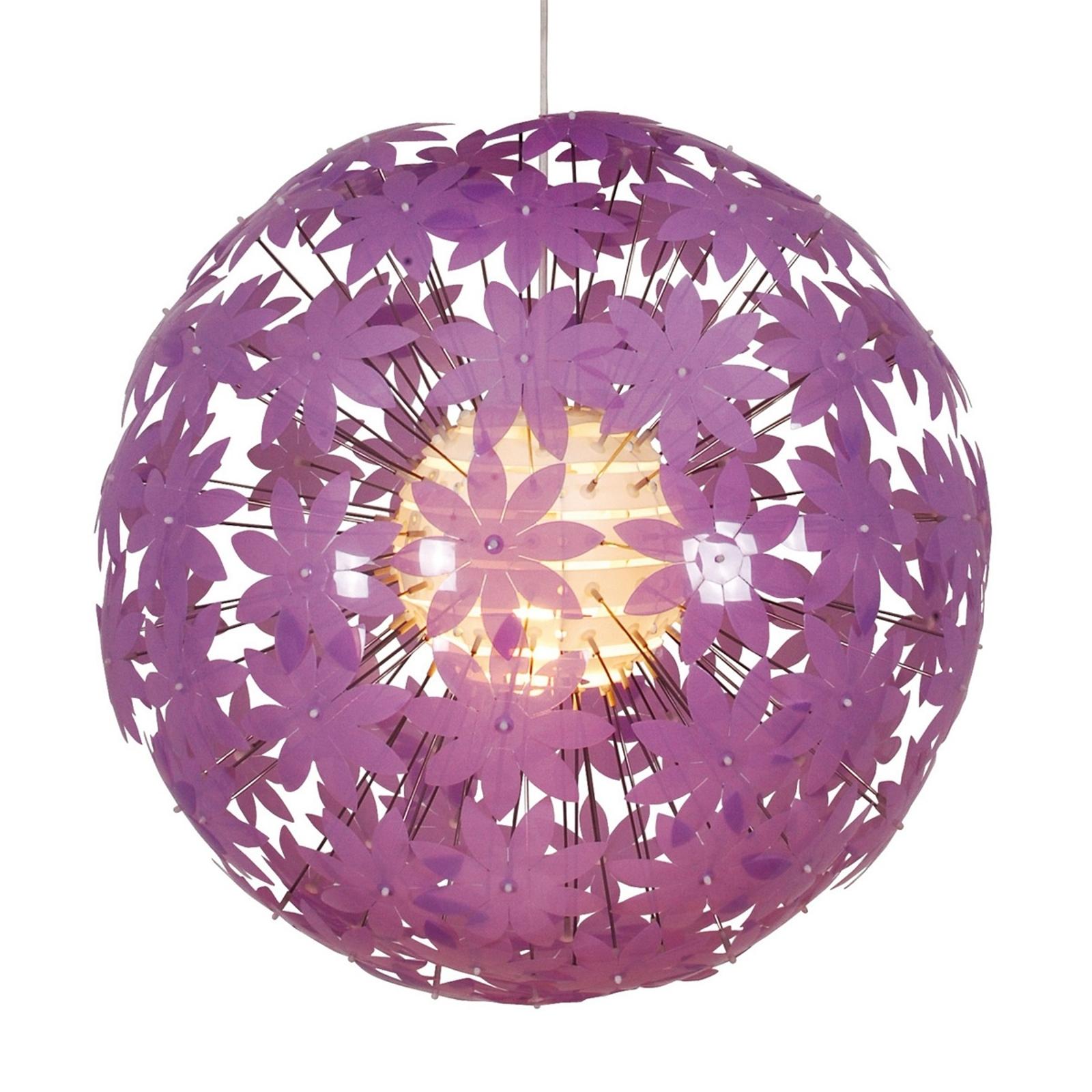 Kulista lampa wisząca YOUNG LIVING, różowa