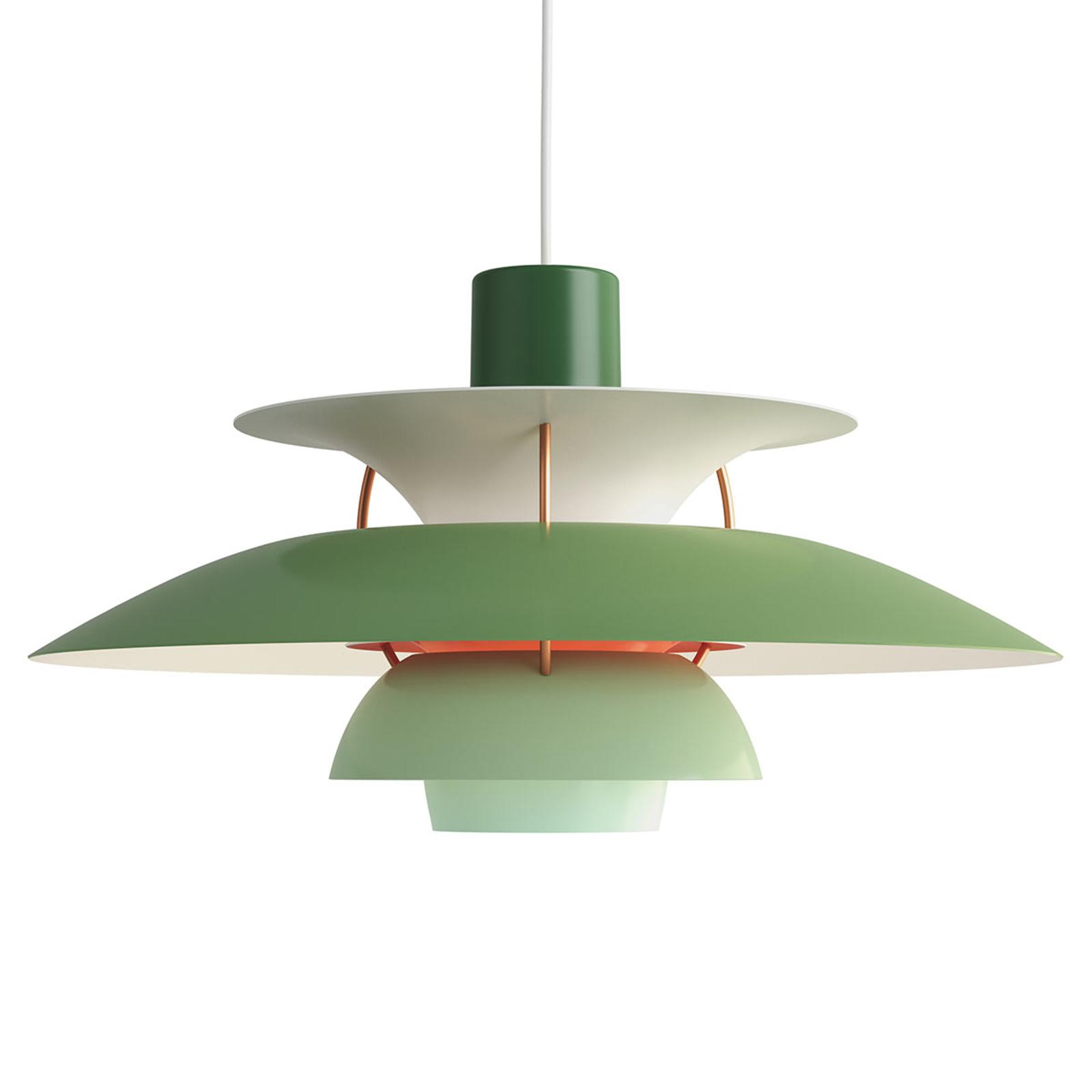 Louis Poulsen PH 5, Designer-Pendellampe grün