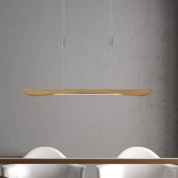 Lucande Hiba -LED-riippuvalo luonnontammi 88 cm