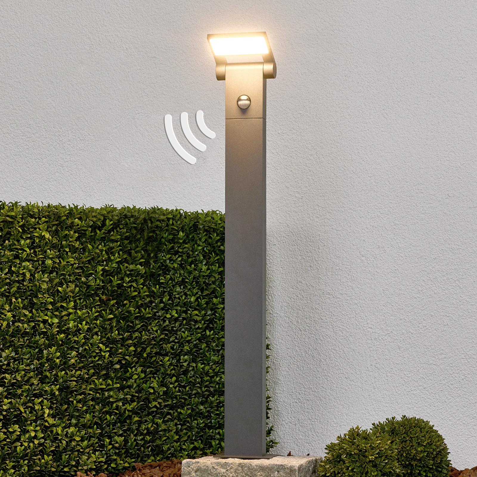 LED-Pollerlampe Marius mit Sensor, 80 cm