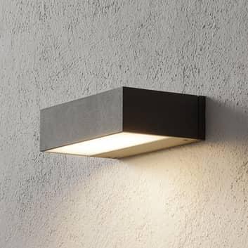 BEGA 33319 LED-vegglampe 3000K sølv 20 cm down