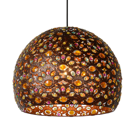Byrsa hanging light with an oriental design