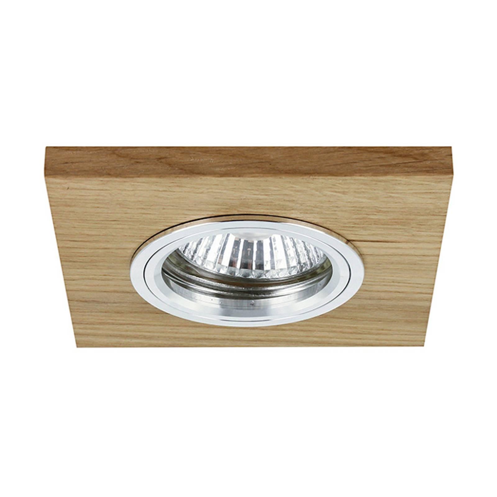 Lampa sufitowa wpuszczana LED Vitar, dąb olejowany