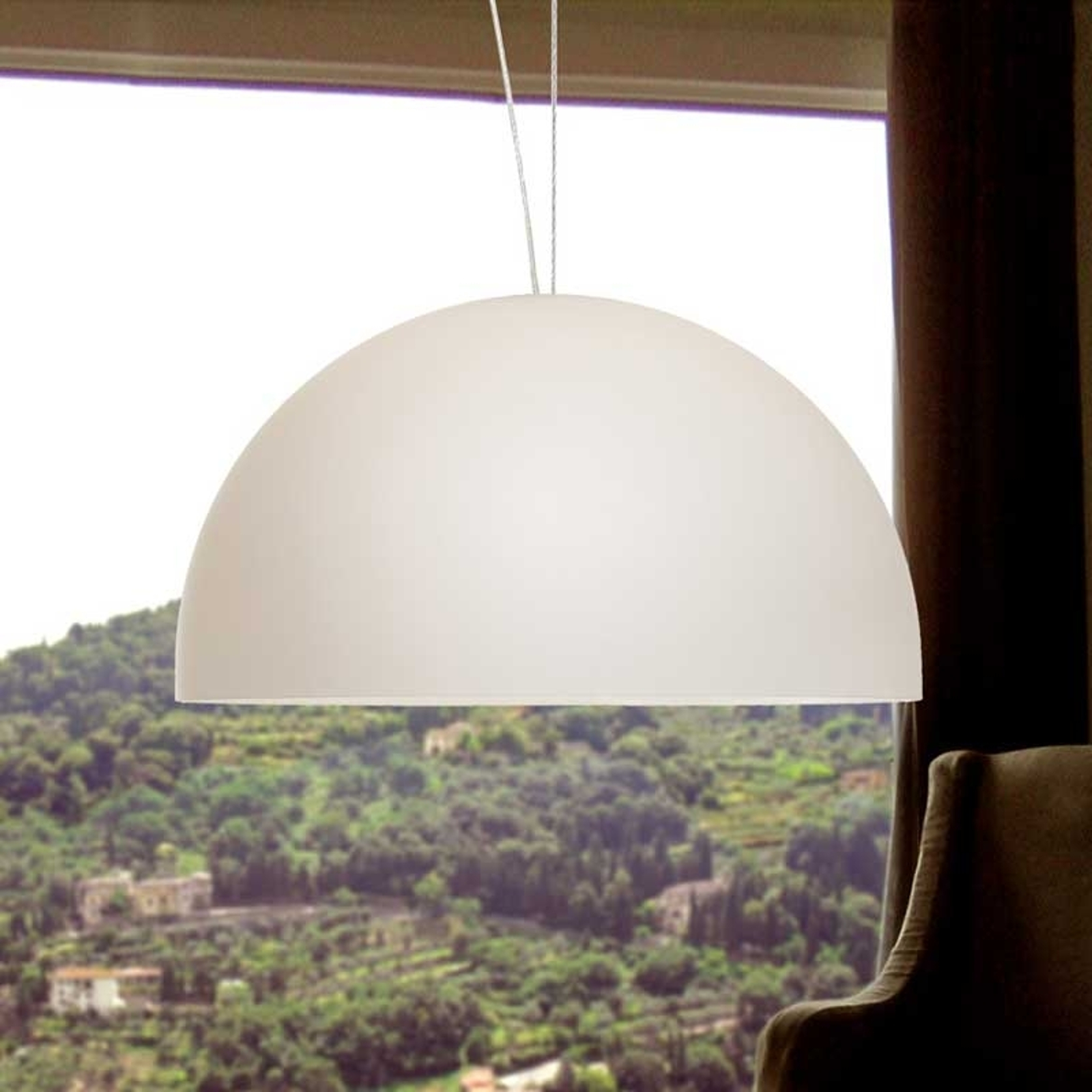 BOWL hengelampe 26 cm et lys