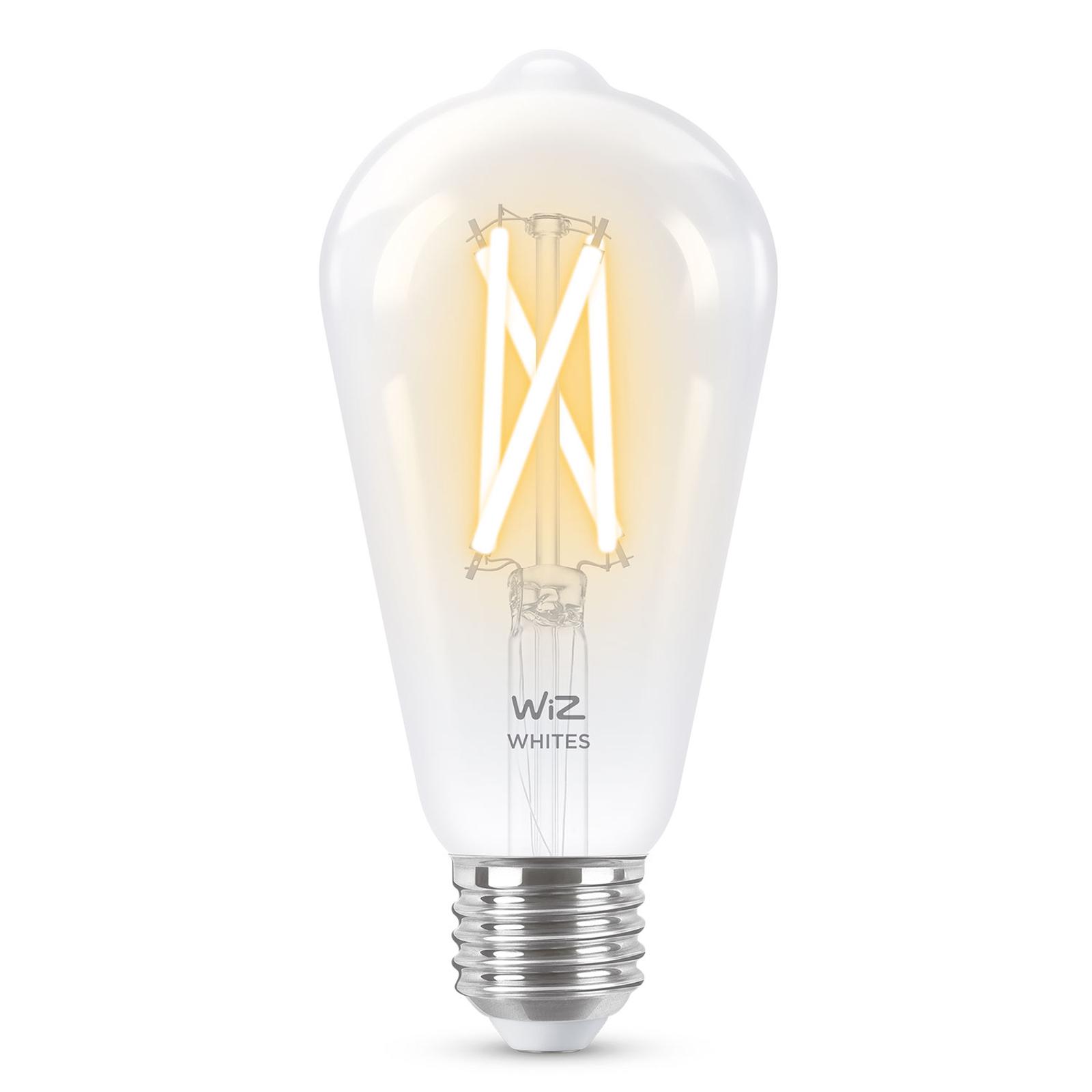 WiZ E27 LED ST64 filament transp 6,5W 2200-5500K