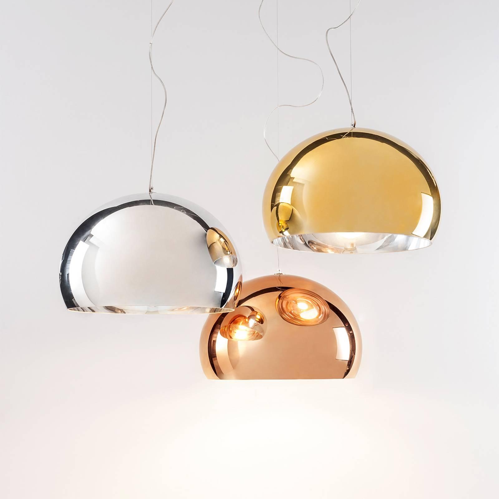 Kartell FL/Y – lampa wisząca LED, miedź błyszcząca