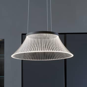 Lámpara colgante LED Plissé pantalla grabada láser