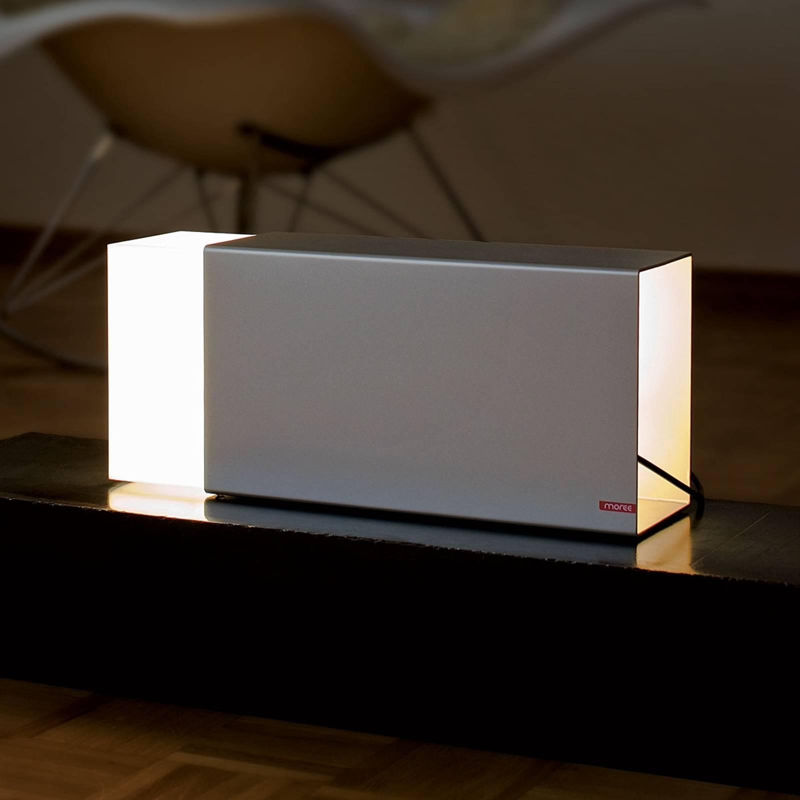 Tafellamp ERASER 380, zilver