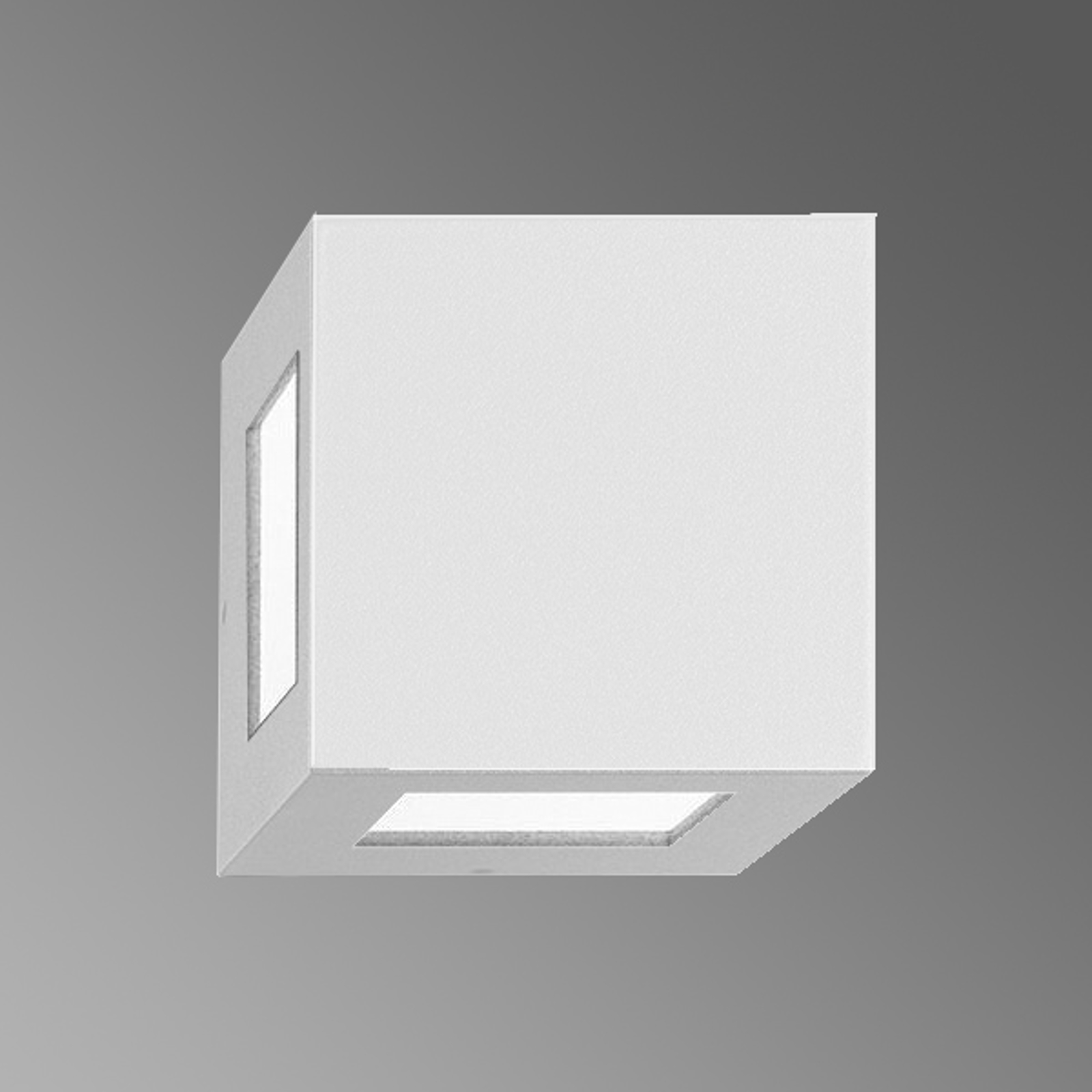 Außen-Wandleuchte 700274 in Weiß, 1NB+1W