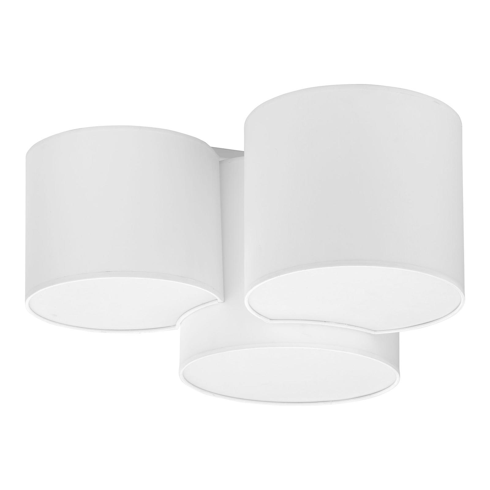 Taklampe Mona, 3 lyskilder, hvit