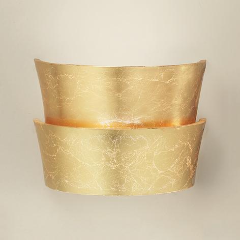 Goldglänzende Wandleuchte Oriana