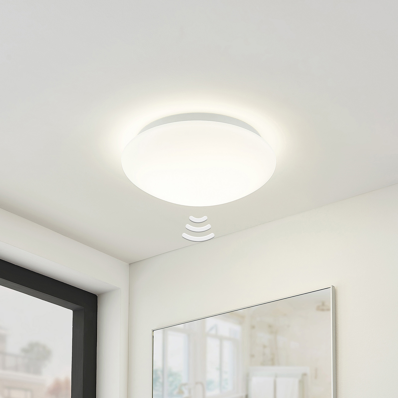 Arcchio Marlie LED-taklampe, sensor, 4000K
