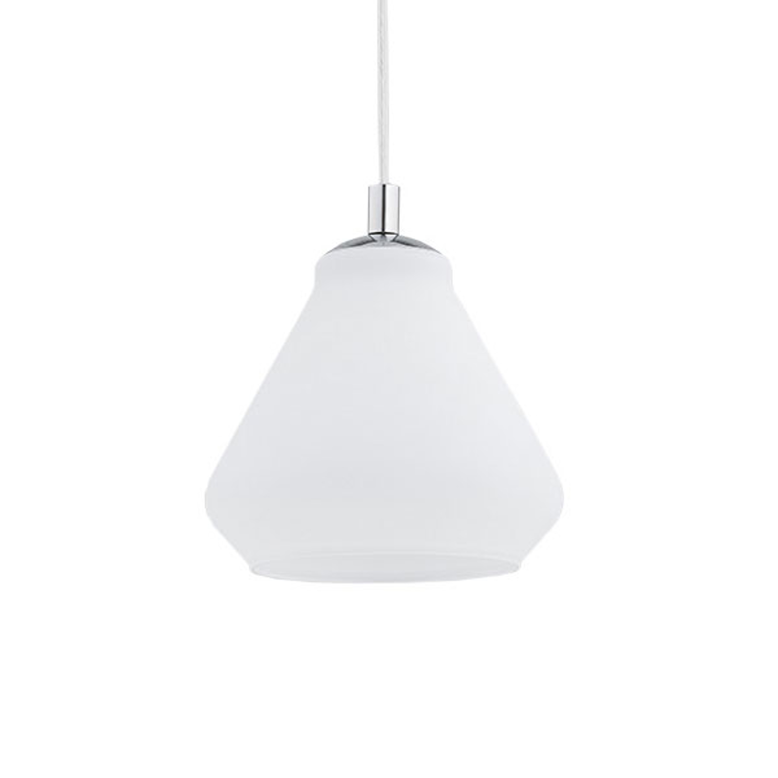 Destin hængelampe, 1 lyskilde, hvid/krom