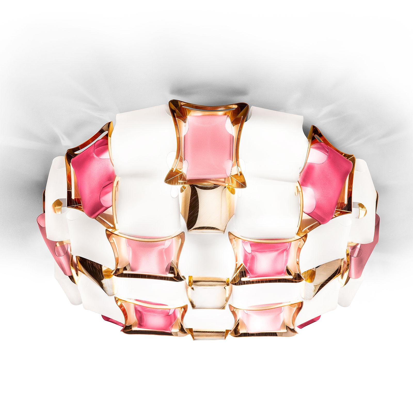 Slamp Mida lampa sufitowa, 67 cm, różowa/biała