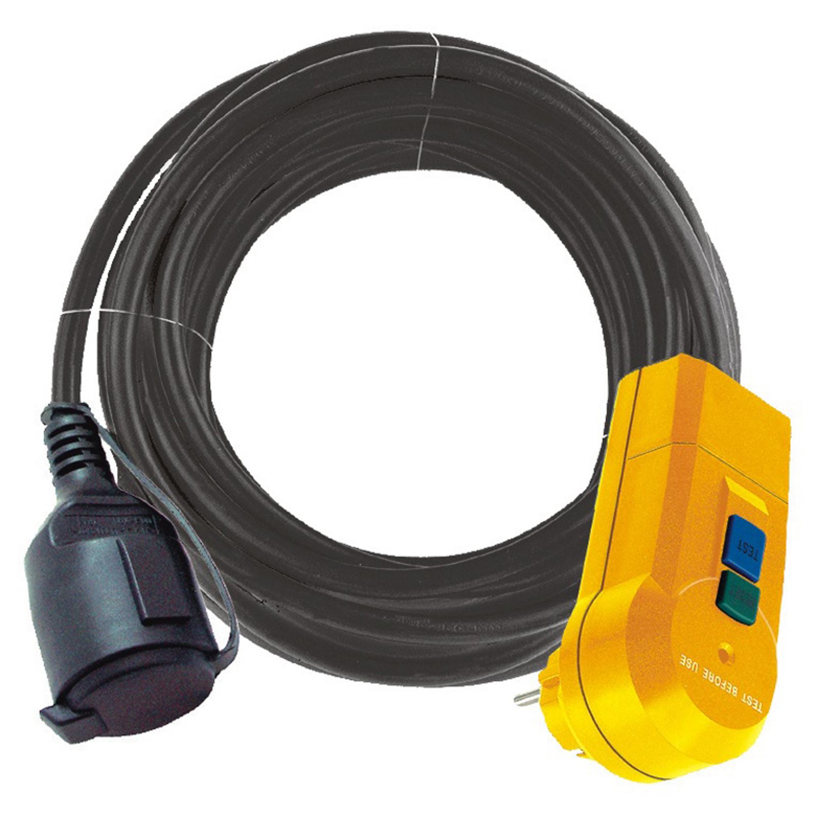 FI IP44 personbeskyt.adapterledning til udebrug