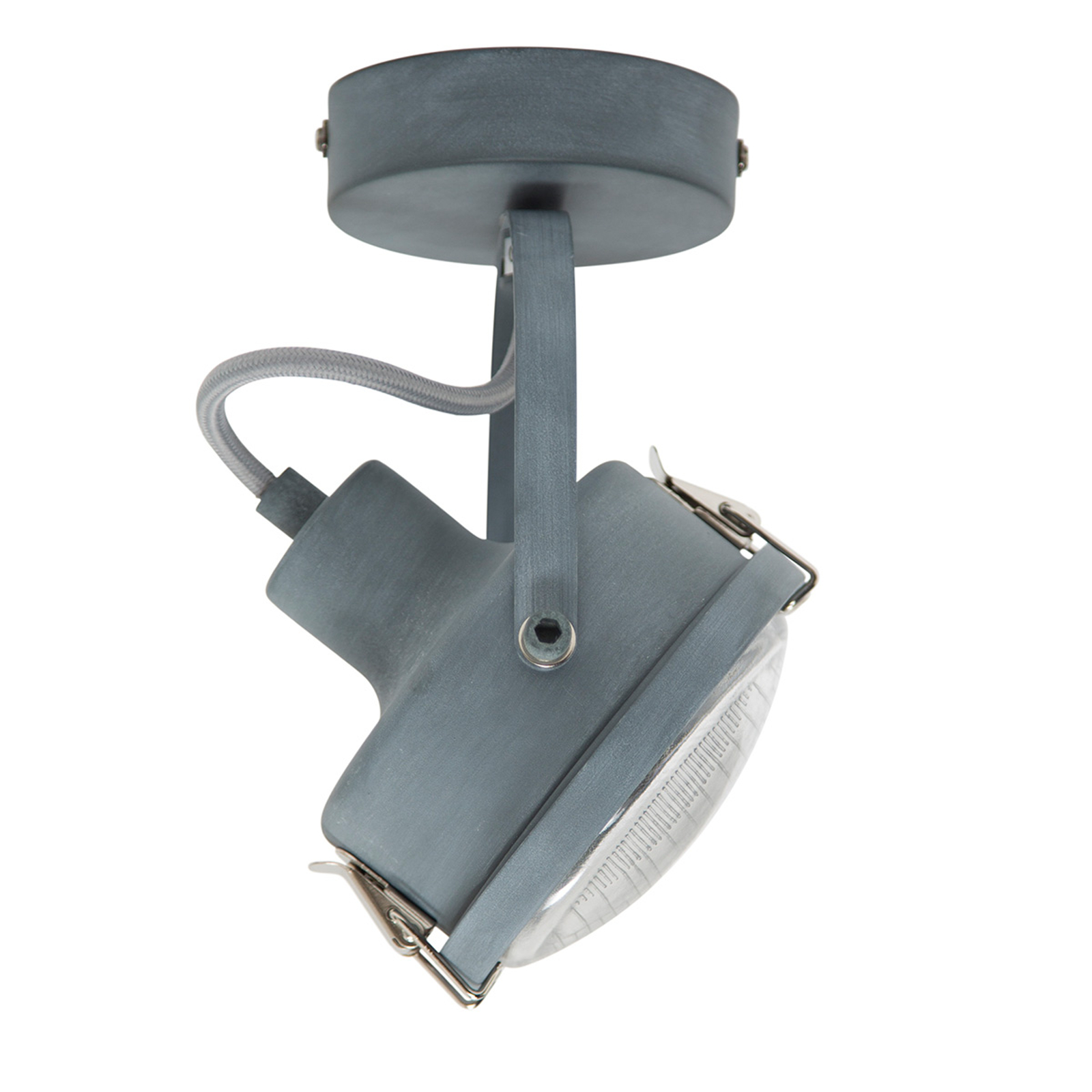 Draaibare plafondlamp Satellite in grijs