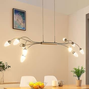 LED-pendellampa Deyan, dimbar, 10 lampor