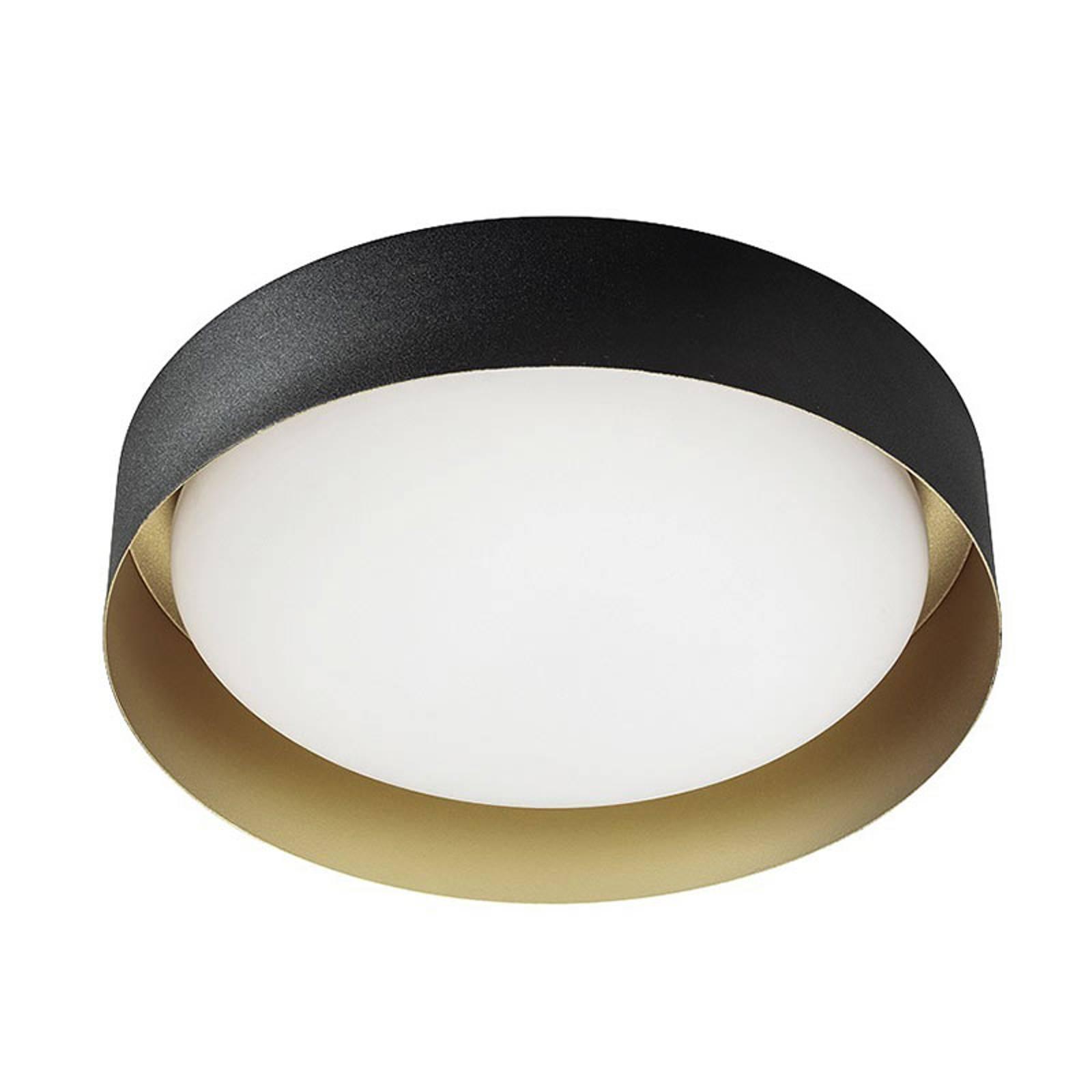 Lampa sufitowa LED Crew 2, Ø 33 cm, czarna/złota